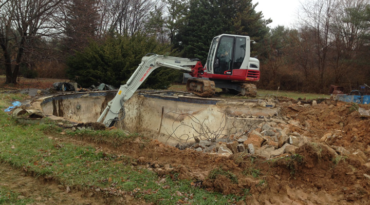 Can I Have My Inground Pool Removed In The Winter Carroll Bros Contracting