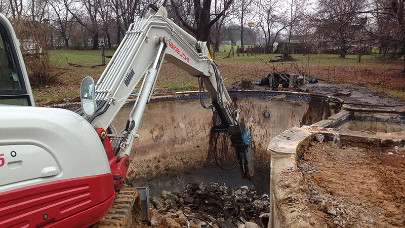 Carroll Bros. Contracting In-Ground Pool Removal in Westminster, MD