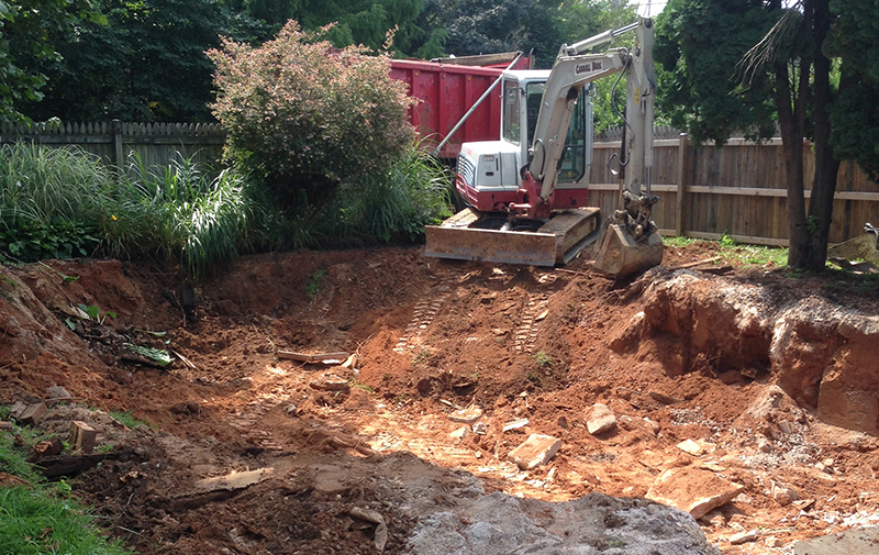 Carroll Bros. Contracting Removing a Pool in a Tight Quarters Location