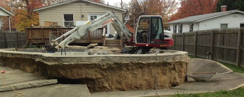 Swimming Pool Removal in Bowie MD