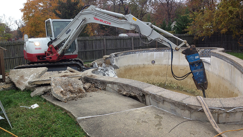 swimming pool removal carroll bros contracting