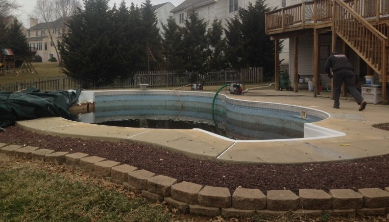 Carroll Bros. Contracting Elkridge inground pool removal