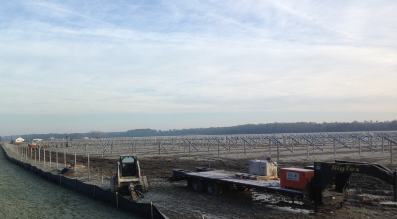 Carroll Bros. Contracting project is prepared for the installation of the solar panels.