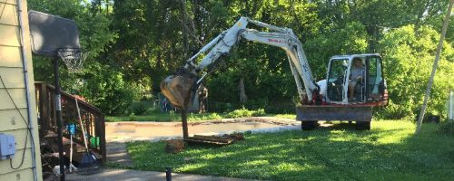 Owings Mills pool removal Demo