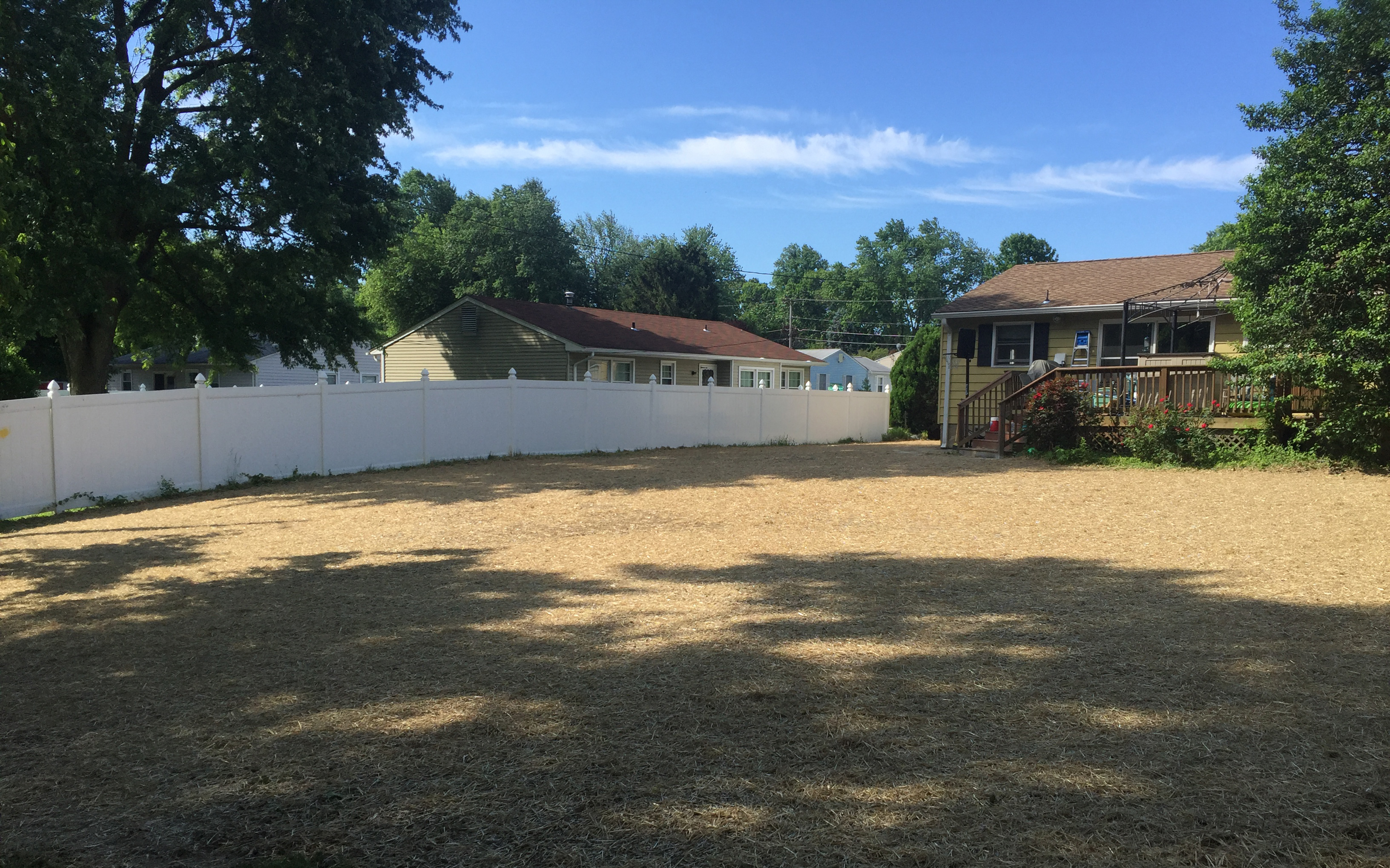 Owings Mills swimming pool removal straw and seed