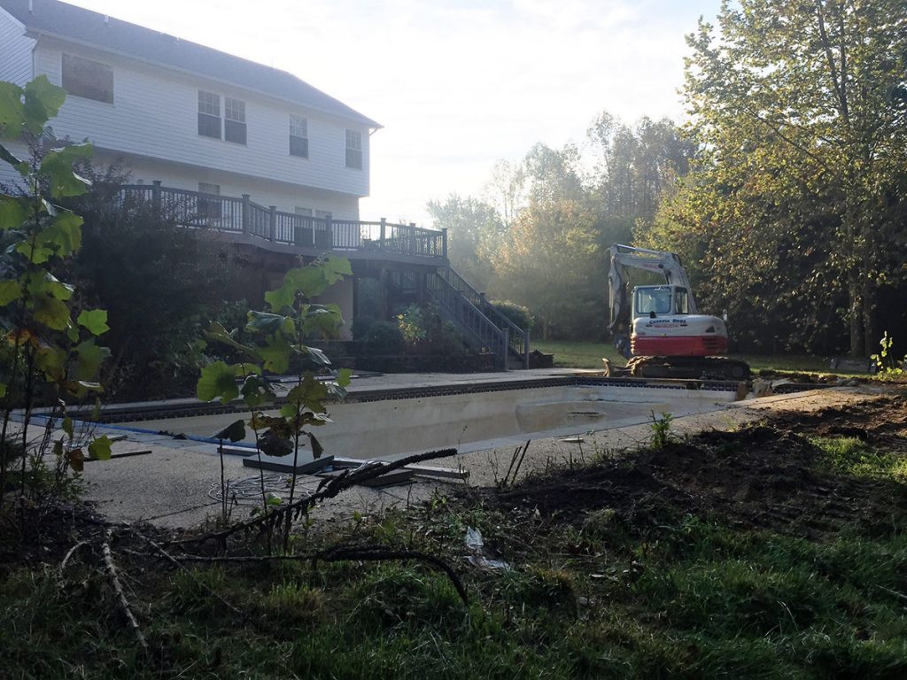 Calver County pool removal BEFORE