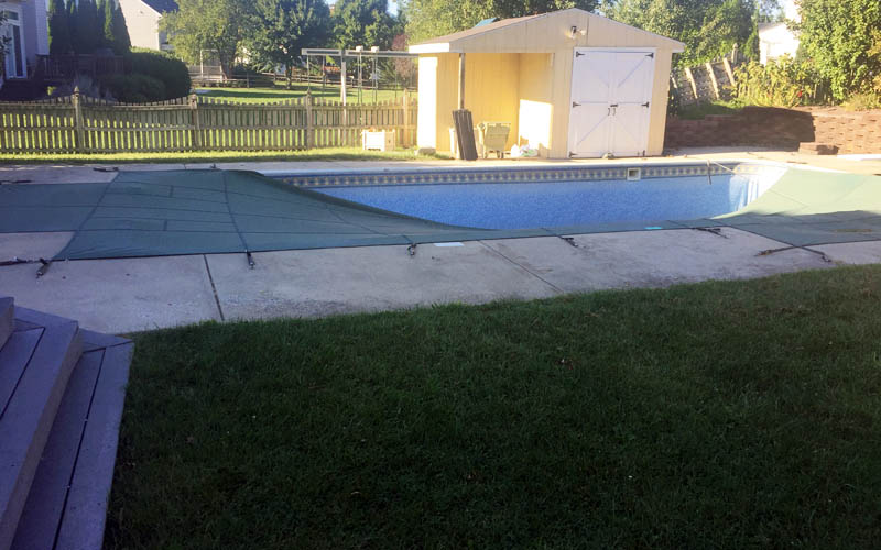 swimming pool removal in Howard County before