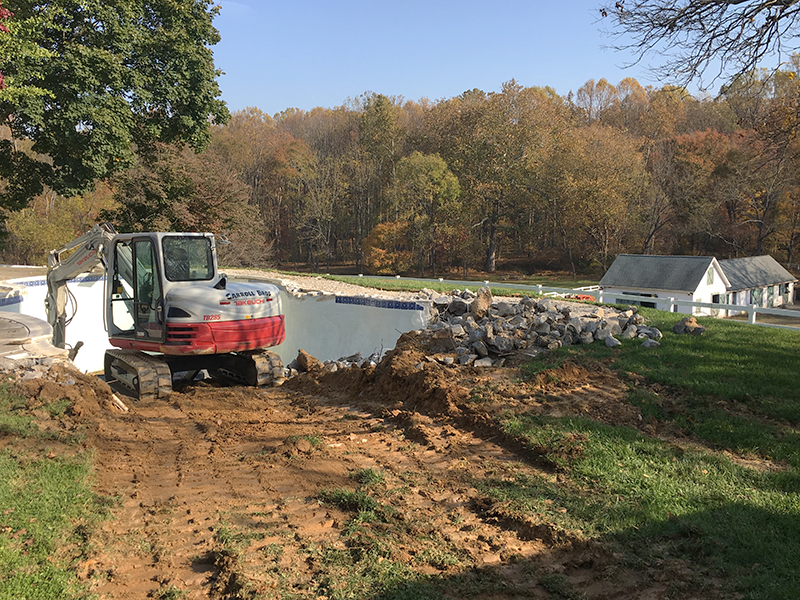 Montgomery County In-Ground Pool Removal BEFORE
