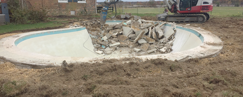 Inground Pool Removal in Centerville, MD BEFORE