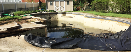 Severn Swimming Pool Removal Before