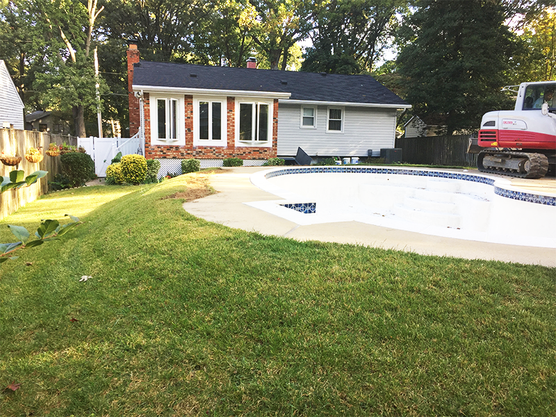pool removal in Annapolis, MD 2